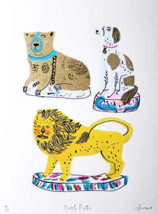 Posh Pets Charlotte Farmer Print Club London Screen Print