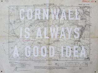 Cornwall Is A Good Idea Mini Dave Buonaguidi Print Club London Screen Print