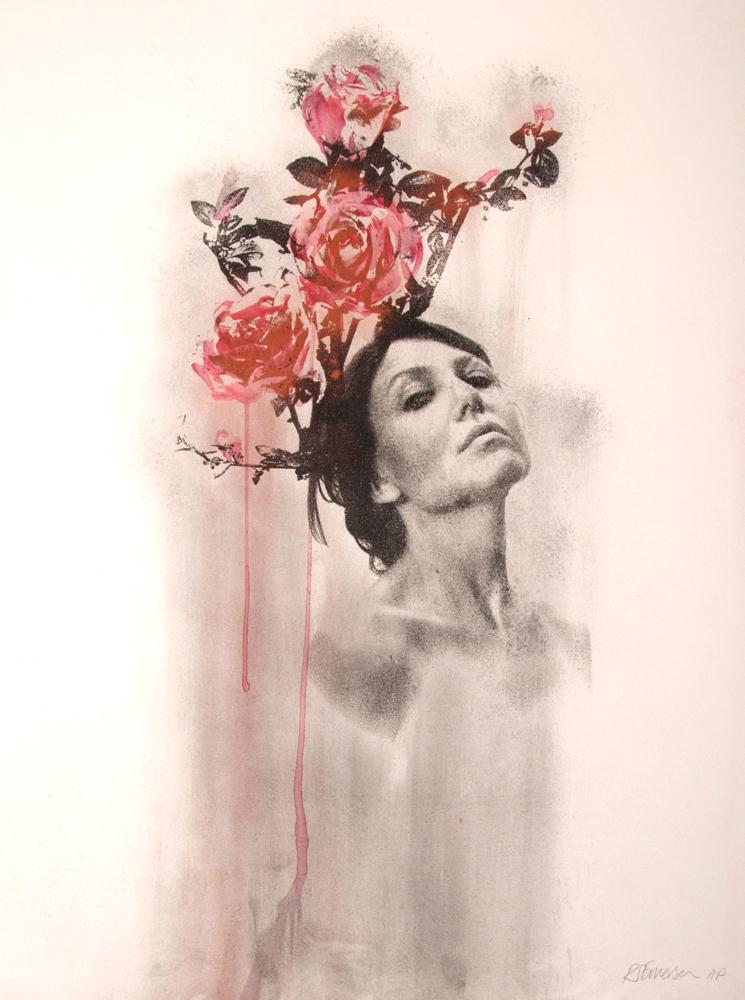 Blood Roses Rosie Emerson Print Club London Screen Print