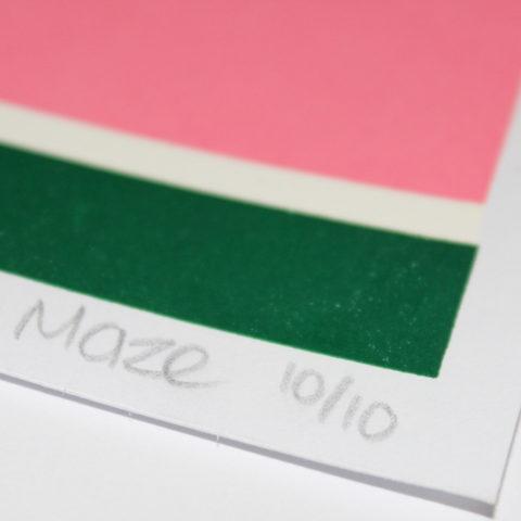 Fresh Leap Maze Print Club London Screen Print