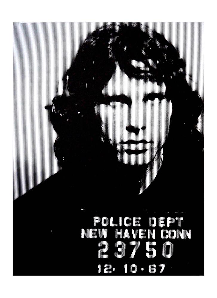 Jim Morrison Silver David Studwell Print Club London Screen Print