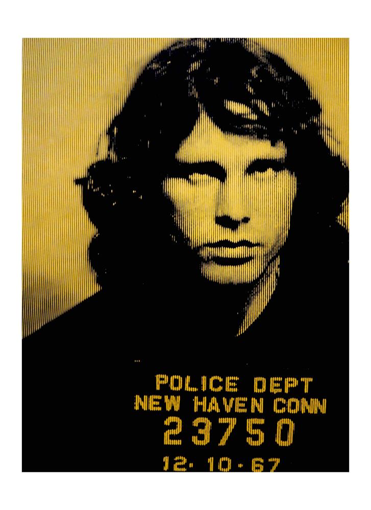 Jim Morrison Gold David Studwell Print Club London Screen Print