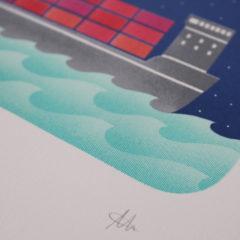 Laurie Hastings Cargo Ship Print Club London Screen Print