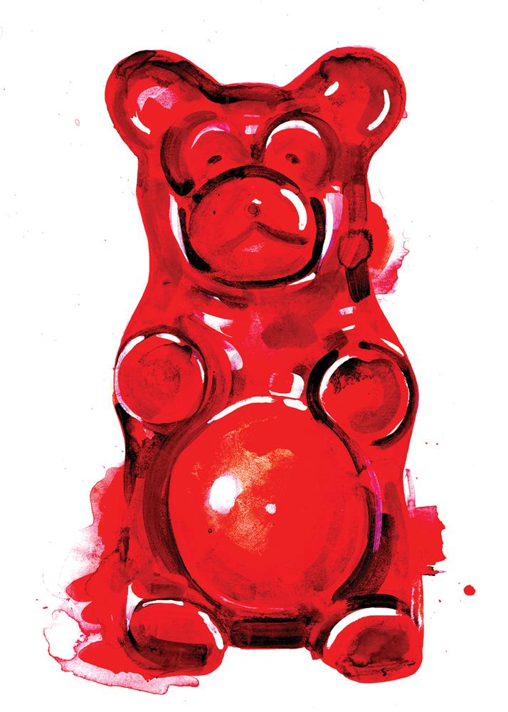 Gummy Bear Gavin Dobson Print Club London Screen Print