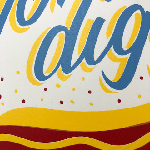 Hot Dog Greater Opacity Print Club London Screen Print