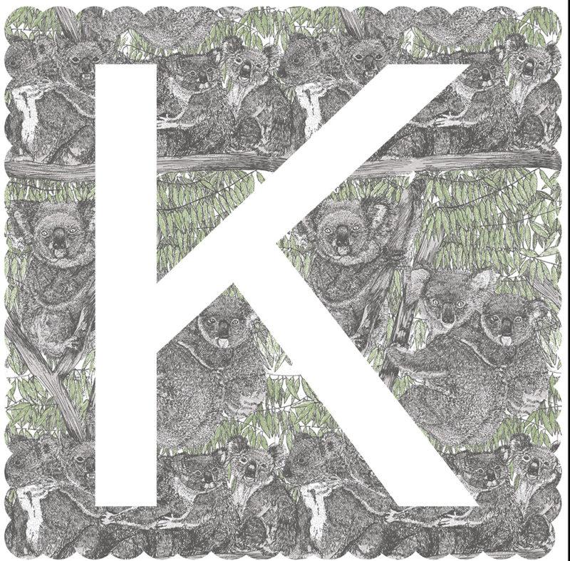 K is for Koala Clare Halifax Print Club London Screen Print