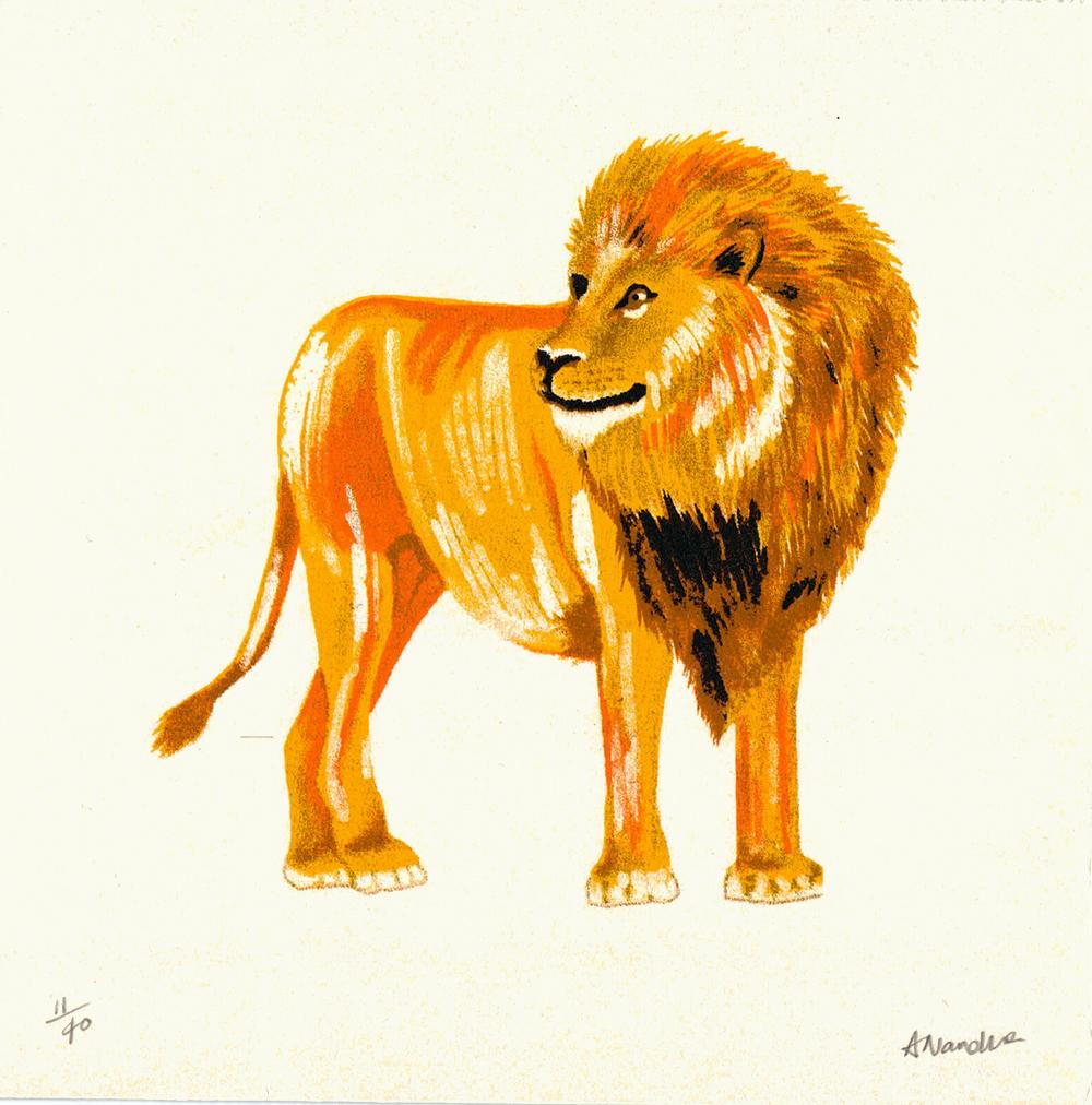 Lion - Aleesha Nandhra Print Club London Screen Print