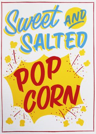 Popcorn Greater Opacity Print Club London Screen Print