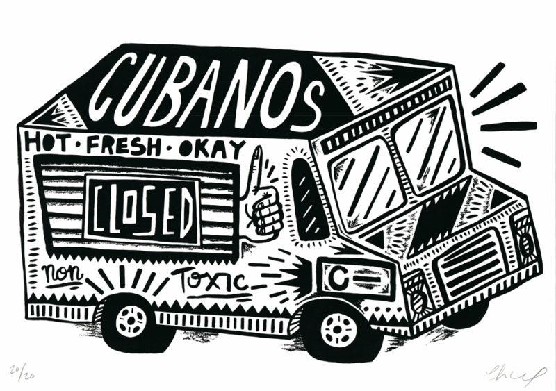 Cubanos! Charlie Gould Print Club London Screen Print