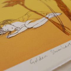 Golden Slumber Sylvia Bull Print Club London Screen Print