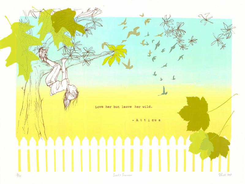 Scouts Summer Sylvia Bull Print Club London Screen Print