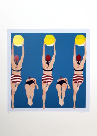 Summer Vibes Zenia Print Club London Screen Print