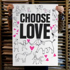 Ashley Amery Choose Love Print Club London Screen Print