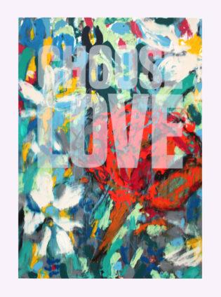 Choose Love Augustine Bridgland Print Club London Help Refugees Screen Print