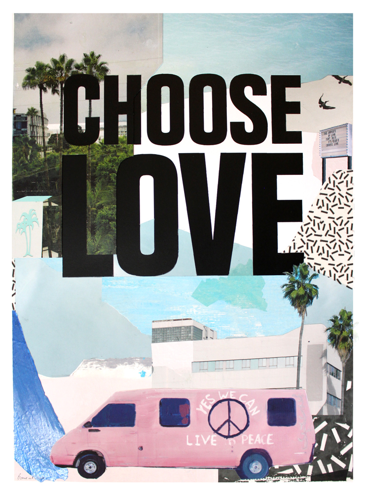 Bonnie & Clyde Choose Love Print Club London Screen Print