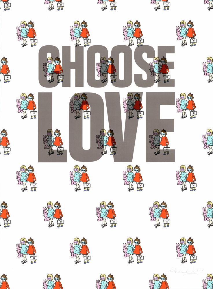 Ceal Warnants Choose Love Babes Print Club London Screen Print