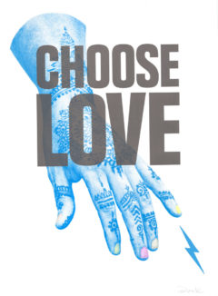 Choose Love Donk Print Club London Help Refugees Screen Print