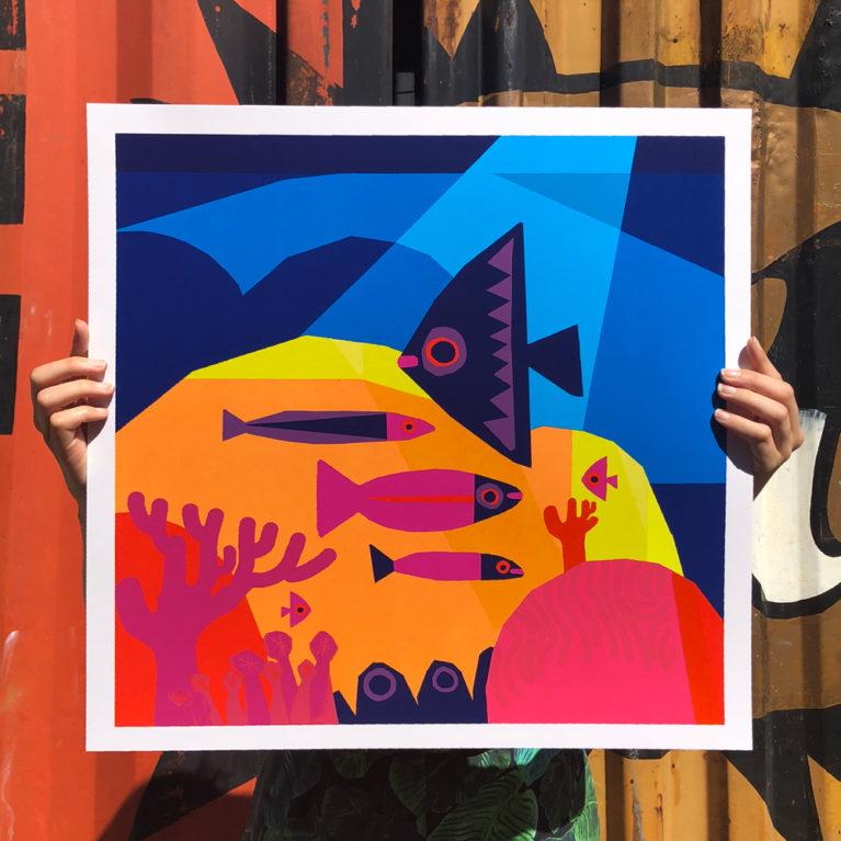 Sea Chris Haughton Screenprint Print Club London
