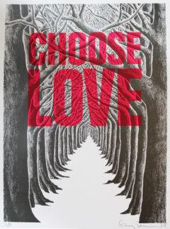 Stanley Donwood Choose Love Print Club London Screen Print