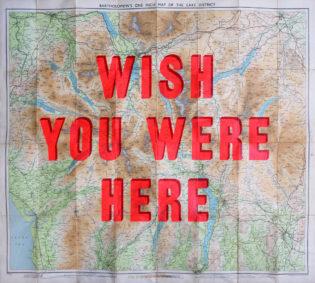 Wish You Were Here Lake District Dave Buonaguidi Print Club London Screen Print