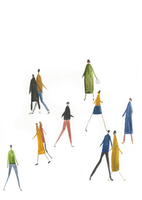 Holly Razavi Matchstick People Print Club London Screen Print