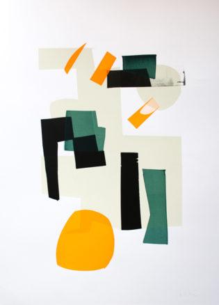 Jonathan Lawes Monoprint 21 Print Club London Screen Print