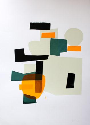 Jonathan Lawes Monoprint 22 Print Club London Screen Print