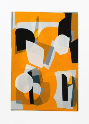 Orange and Black Jonathan Lawes Print Club London Screen Print