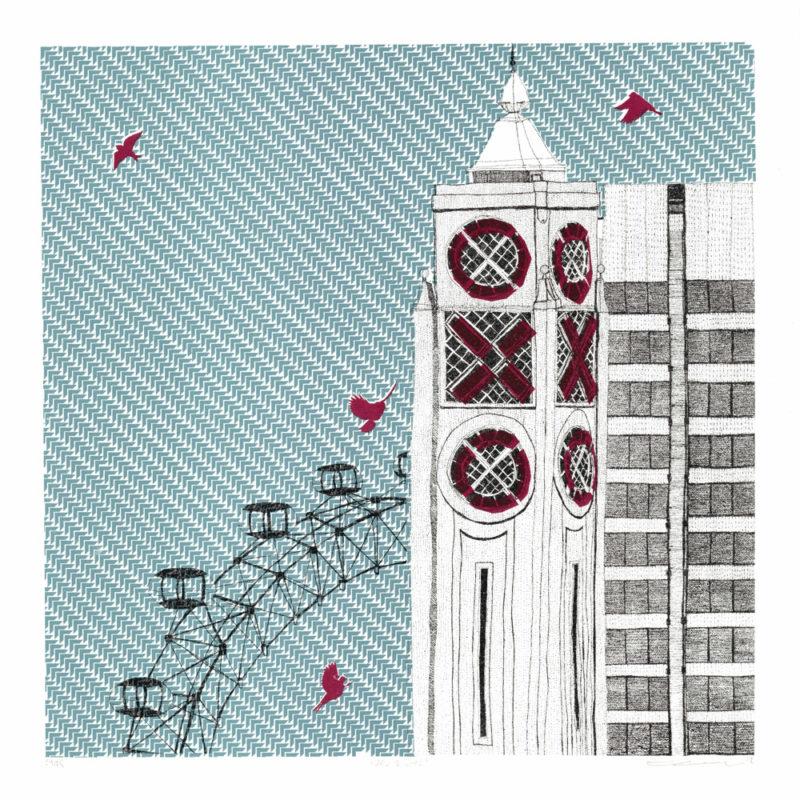 Eye and Oxo Clare Halifax Screen Print Print Club London