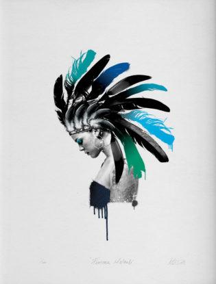 Feather Mohawk Matt Herring Print Club London Screen Print