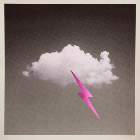 Little Fucking Cloud – Metallic Pink by Donk Print Club London Screen Print