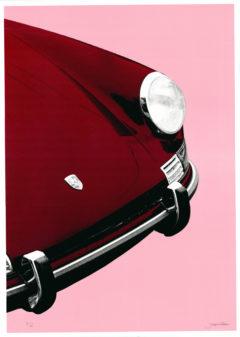 Porsche 911 Targa Joseph Gibson Print Club London Screen Print