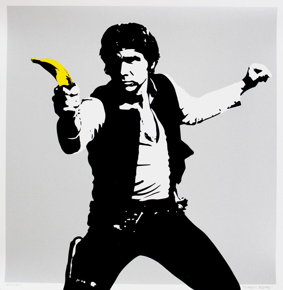 Han Solo Banana Gun Silver Print Club London Screen Print