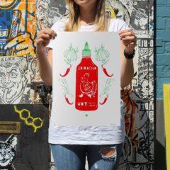Sriracha Time – Aleesha Nandhra Print Club London Screen Print