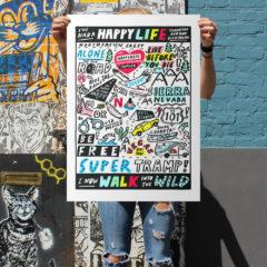 Robot Xtra Print Club London Screen Print