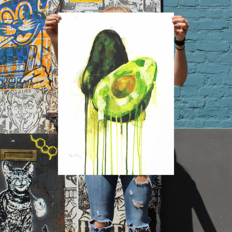 Avocado – Gavin Dobson Print Club London Screen Print