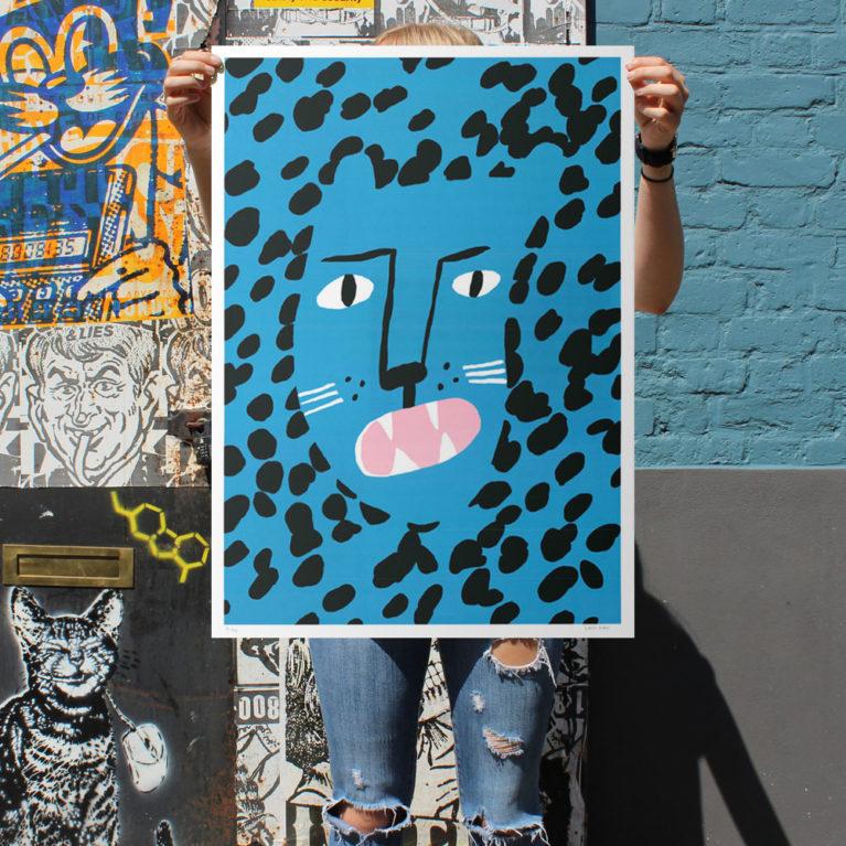 How the Leopard Got His Spots Lucky Kirk Print Club London Screen Print