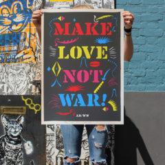 Make Love Not War Print Club London
