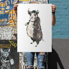 Tiff Howick Animal Farm Print Club London