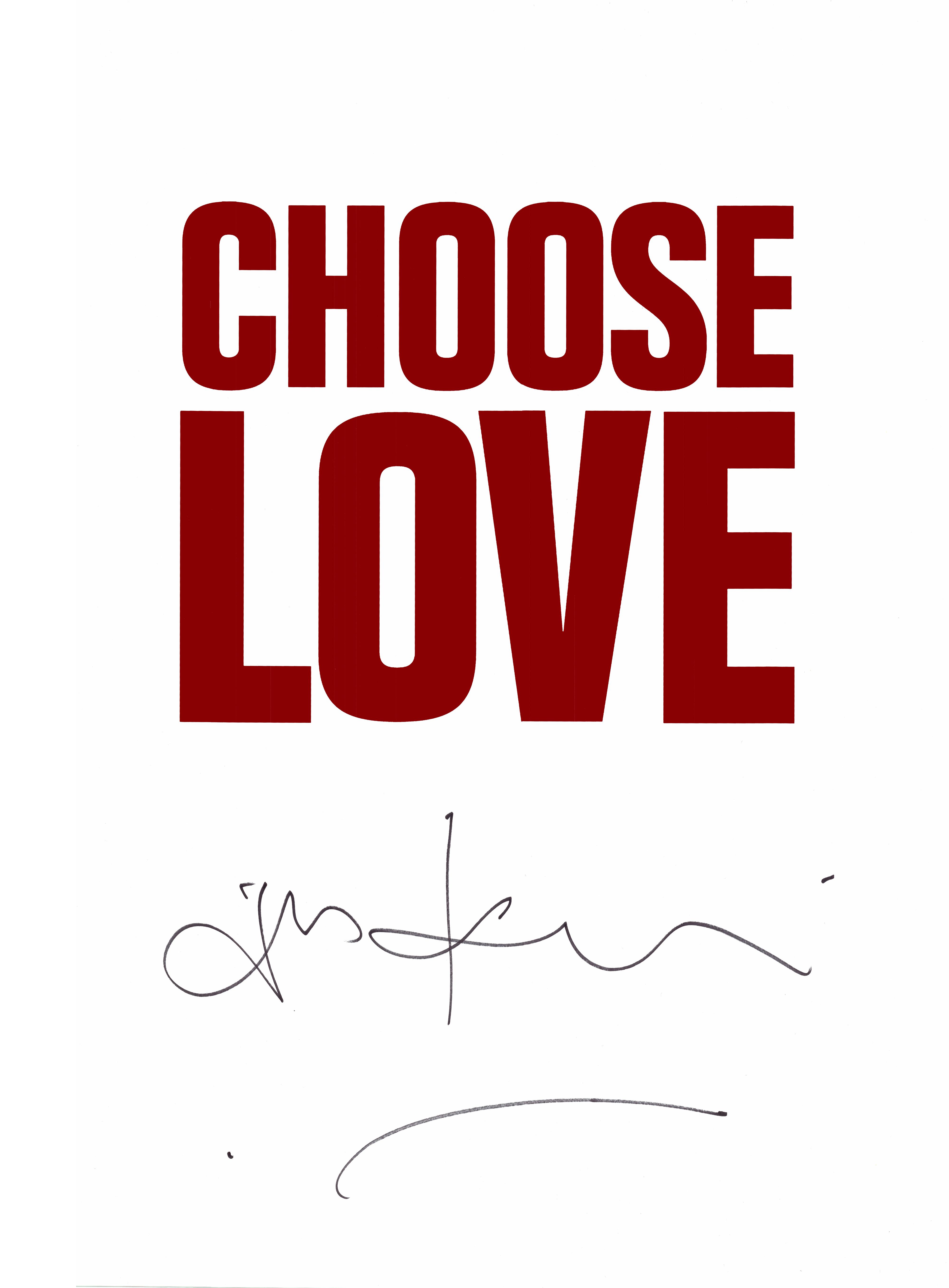 Anish Kapoor Choose Love Print Club London Screen Print