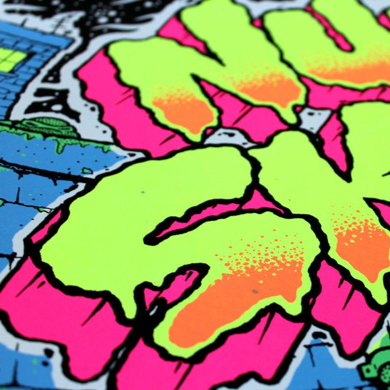 Print Club London Screen Print Blisters 2018 Ben Rider Teenage Mutant Ninja Turtles