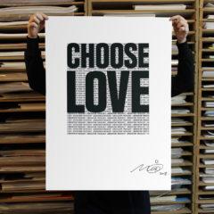 Mustafa Hulusi Choose Love Help Refugees Print Club London