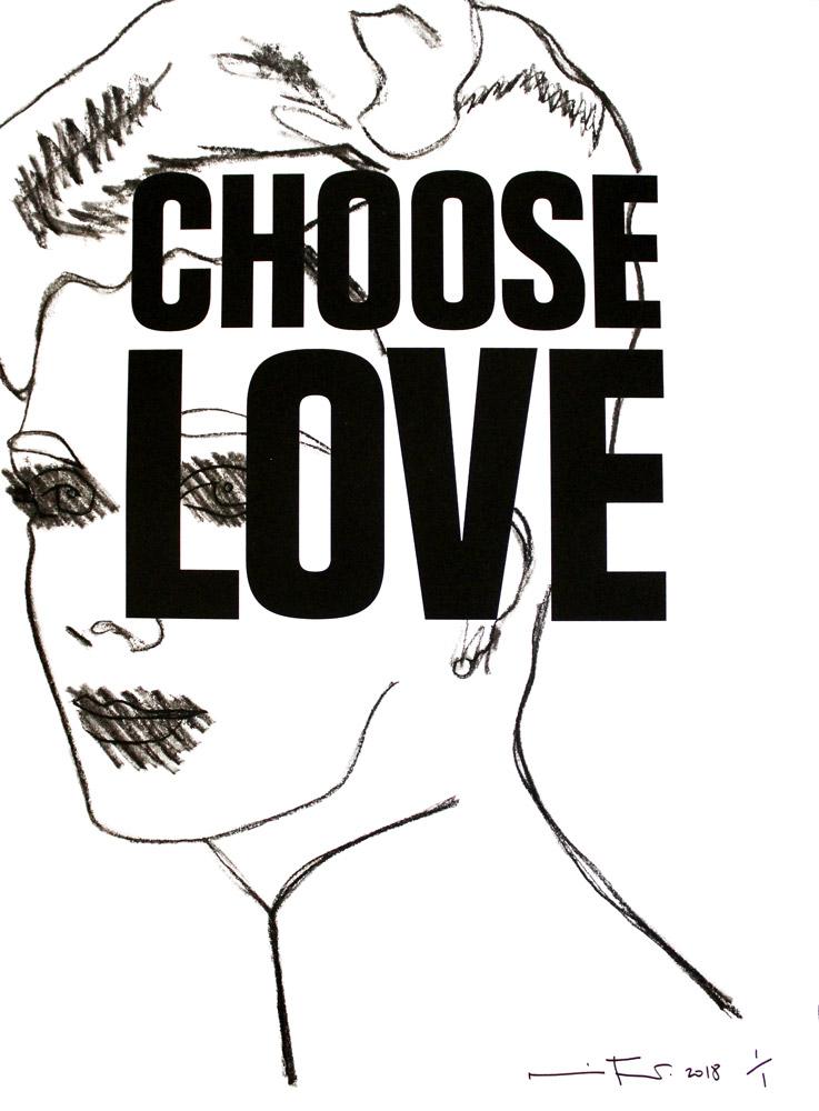 Nina Mae Fowler Choose Love Help Refugees Print Club London
