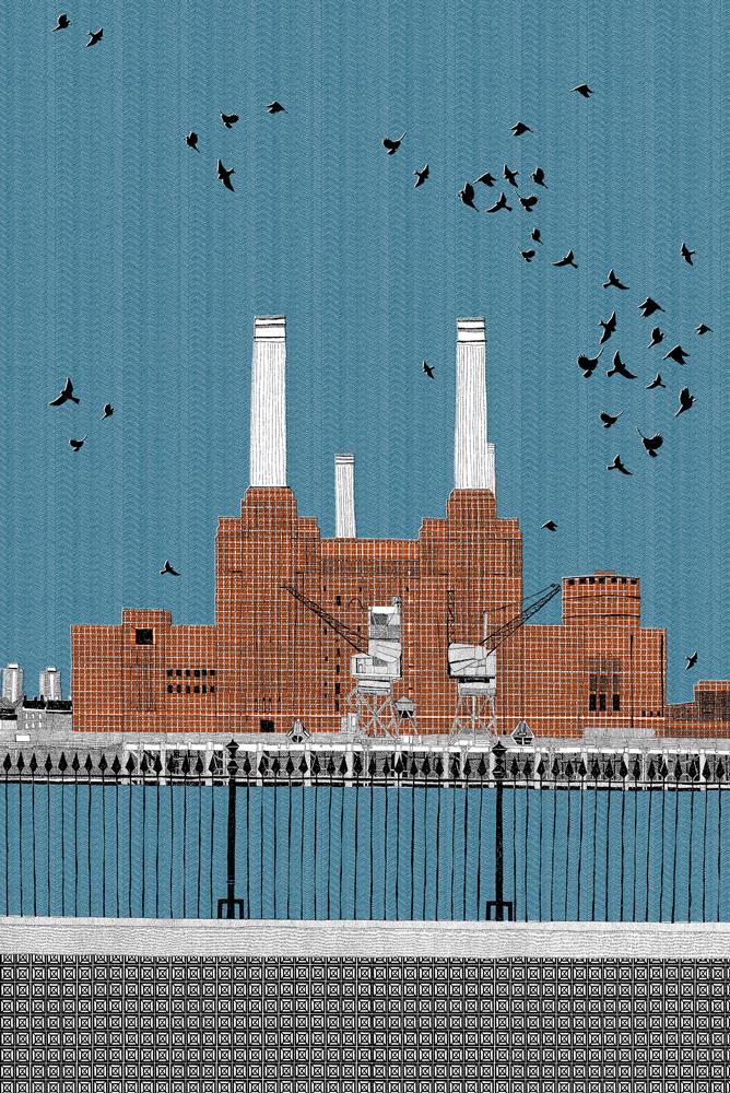 Clare Halifax Battersea Power Station Print Club London Screen Print