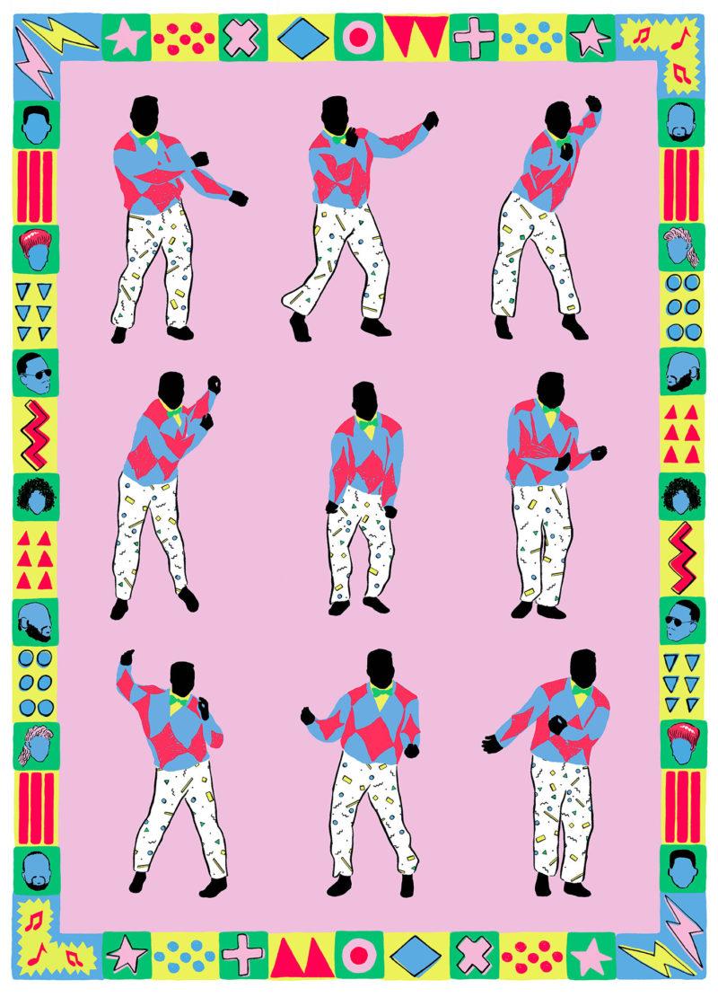 Fresh Prince Diikii Print Club London Screen Print Blisters