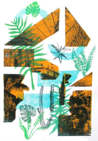 Barbican Conservatory Melissa North Print Club London Screen Print