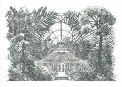 Palm House Panorama Lucille Clerc Print Club London Screen Print