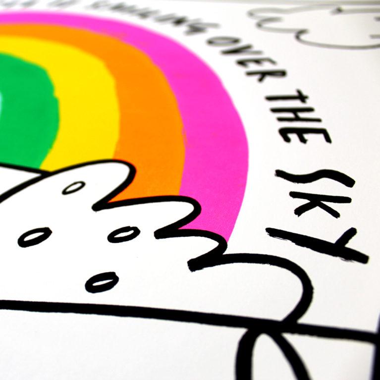 Rose Stallard Rainbow Print Club London Screen Print Blisters 2018