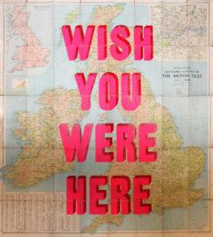 Wish You Were Here Print Club Dave Buonaguidi Screen Print