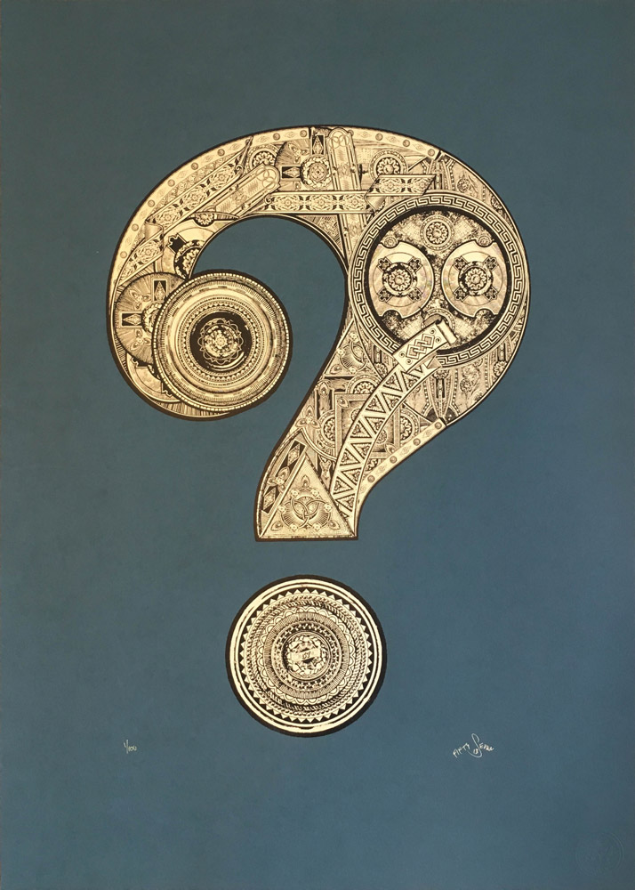 57Design Question Mark Print Club London Screen Print